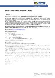 Invitation to the HESE workshop , Copenhagen, 18. – 19.3 ... - ISCA