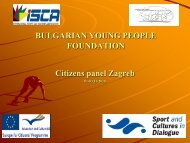 Human Resources Development - Young People Fundation ... - ISCA