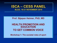 Health promotion and education to get common voice - ISCA