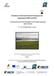 Invitation to the International Training Course organized by ... - ISCA