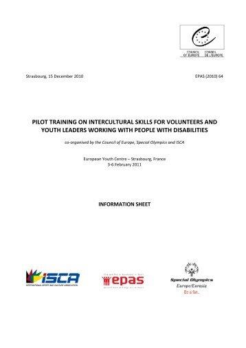 Fact sheet training CEJ 3-6 Feb 2011.pdf - ISCA