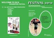 ISCA Badminton Festival 2011 - Vejen - Leaflet (PDF, 1.45 MB)