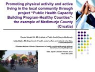 Promoting physical activity and active living in the local ... - ISCA