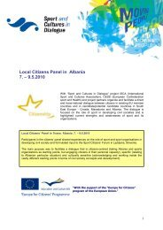Report Citizen Panel Albania - ISCA