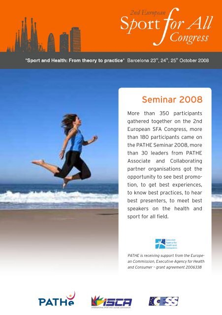 PATHE Seminar 2008 report - ISCA