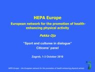European network for the promotion of health-enhancing ... - ISCA