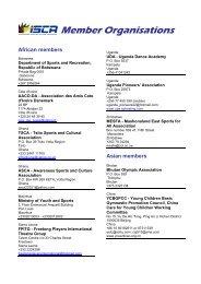 ISCA member list