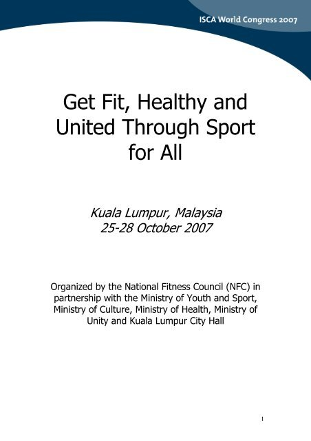 Get Fit, Healthy and United Through Sport for All - ISCA