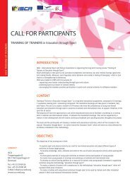 CALL FOR PARTICIPANTS - ISCA