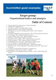 Table of Content Target group: - Eurovolnet.info