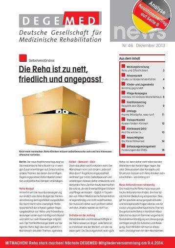 DEGEMED News 46 Dezember 2013