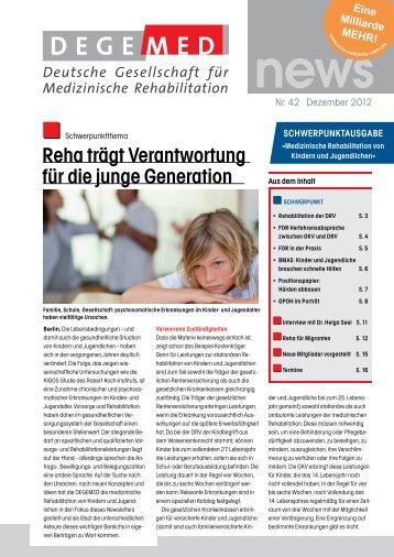 DEGEMED News 42 Dezember 2012