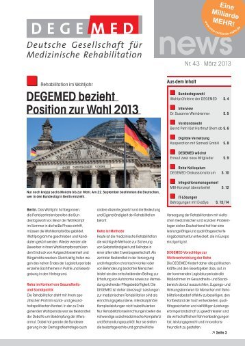 DEGEMED News 43 März 2013