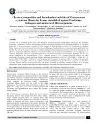Chemical composition and Antimicrobial activities of ... - ISCA