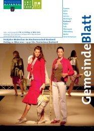 Frühjahrs-Modeschau der Kaufmannschaft Rankweil Freitag, 12. März