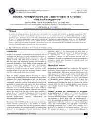 Isolation, Partial purification and Characterization of ... - ISCA