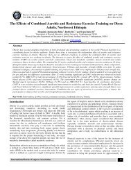 The Effects of Combined Aerobic and Resistance Exercise ... - ISCA