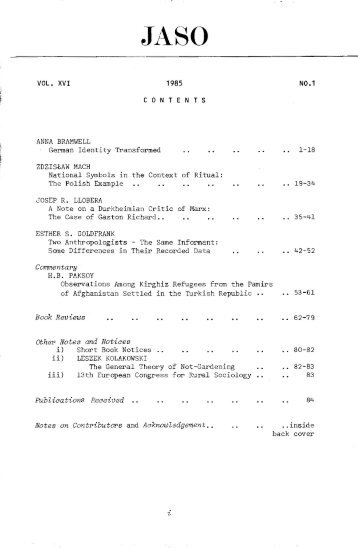 Download searchable PDF of Volume 16 1985 - Institute of Social ...