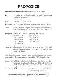 Propozice pořadatele ve formátu PDF - ISCAREX s.r.o.