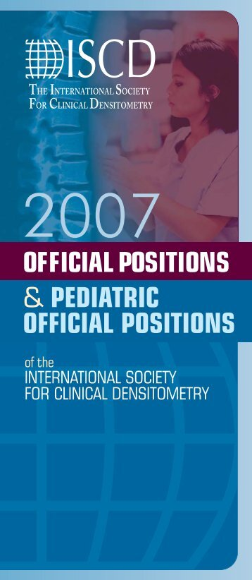 2007 ISCD Official Positions Brochure (PDF)