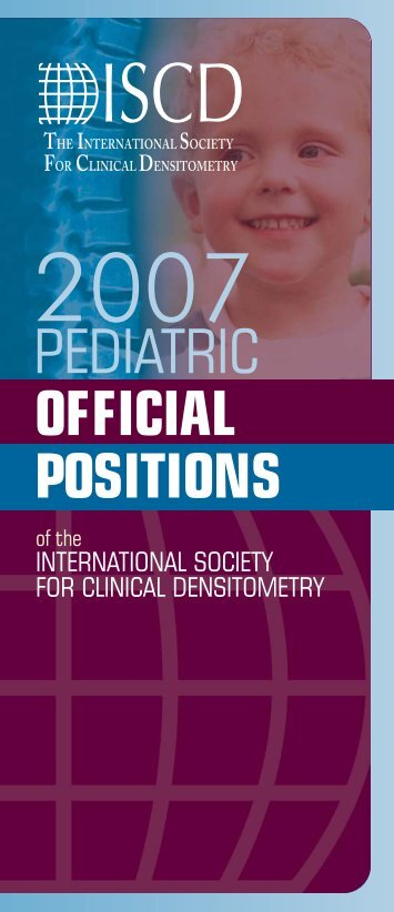 OFFICIAL POSITIONS PEDIATRIC - ISCD