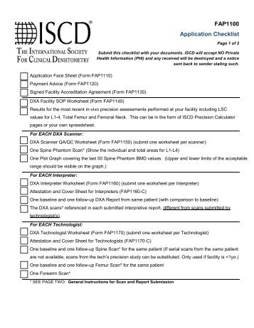 Complete Application Documents Pack - ISCD