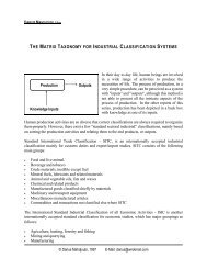 the matrix taxonomy for industrial classification systems - School of ...