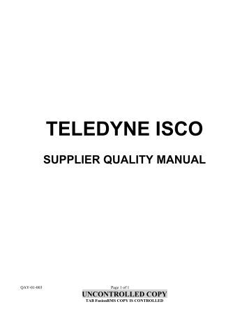 supplier quality manual template - supplier quality and packaging requirements manual