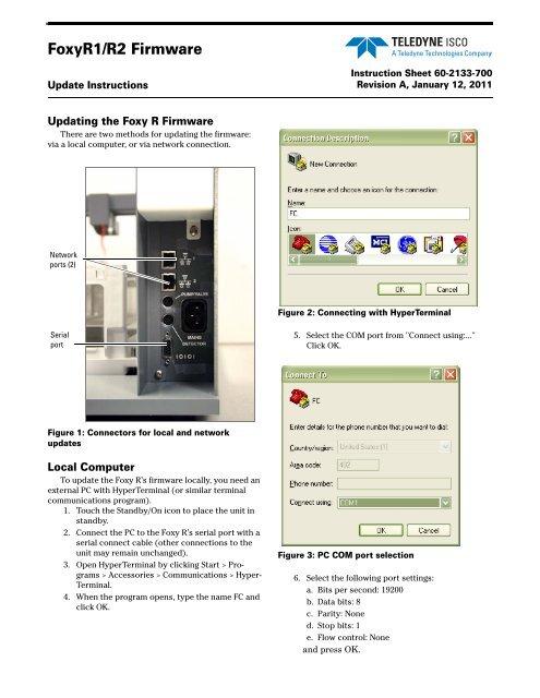 FoxyR Firmware Update Instructions - Isco