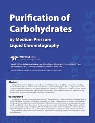 Purification of Carbohydrates by Medium Pressure Liquid ... - Isco