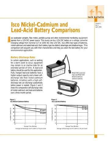Isco Nickel-Cadmium and Lead-Acid Battery Comparisons