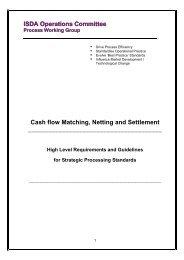 Cashflow Matching, Netting and Settlement - ISDA
