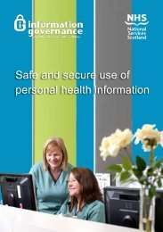 Safe and secure use of personal health information