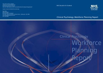 Clinical Psychology Workforce Planning Report - Information ...