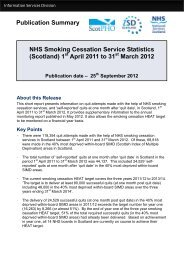 Publication Summary NHS Smoking Cessation Service Statistics ...