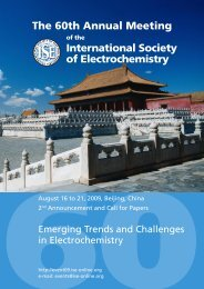 The 60th Annual Meeting International Society of Electrochemistry