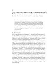 Mechanical Generation of Admissible Heuristics