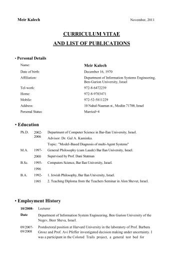 curriculum-vitae-and-list-of-publications Curriculum Vitae Publications on