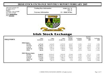 February 2005 - Irish Stock Exchange