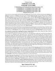 VITESSE CLO LTD. VITESSE CLO CORP. - Irish Stock Exchange