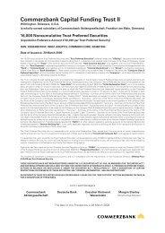 Commerzbank Capital Funding Trust II - Irish Stock Exchange