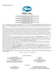 Pfizer Inc. - Irish Stock Exchange