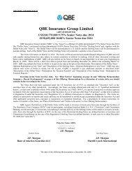 QBE Insurance Group Limited - Irish Stock Exchange