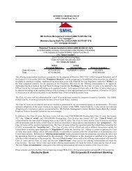 Prospectus - SMHL Global Fund No. 8 - Irish Stock Exchange