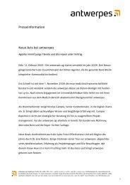Presseinformation Neue Acts bei antwerpes - DocCheck AG
