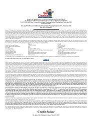 Credit Suisse - Irish Stock Exchange