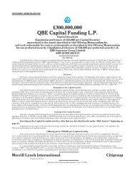 300000000 QBE Capital Funding LP - Irish Stock Exchange