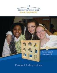 2013 Pathway School Annual Report