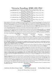 Victoria Funding (EMC-III) PLC - Irish Stock Exchange