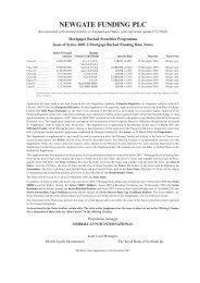 NEWGATE FUNDING PLC - Irish Stock Exchange
